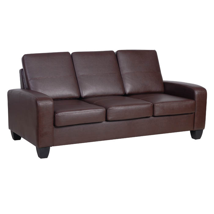 Agretto Antique Faux Leather Large Sofa